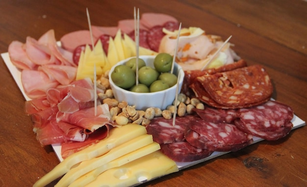 Table of cold cuts