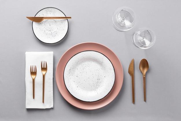 보기 위의 테이블 에티켓 및 드레싱