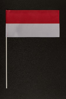 Table flag of poland on a black background