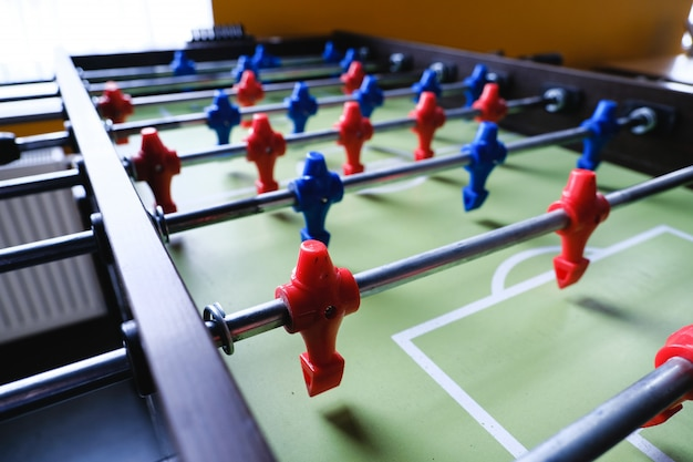 Table football in the entertainment center