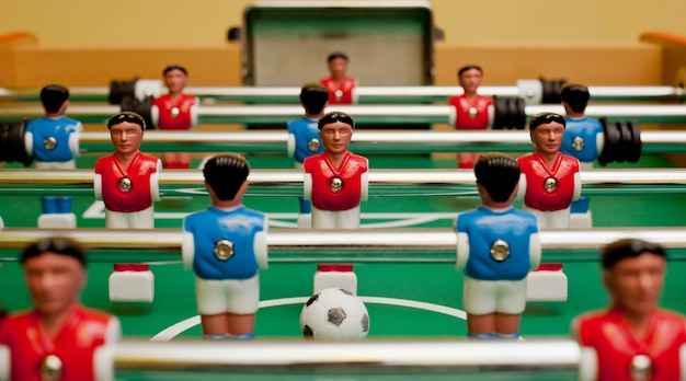 Table football, view towards the gate.