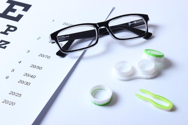 시력 교정용 시력 안경 및 렌즈 점검표