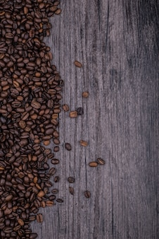 Table full of coffee beans