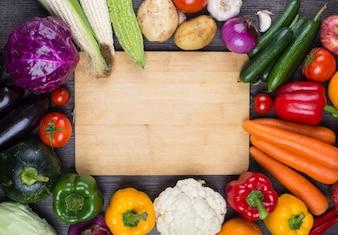 Table full of vegetables