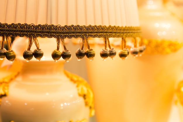 Настольная лампа люкс, желтые тона