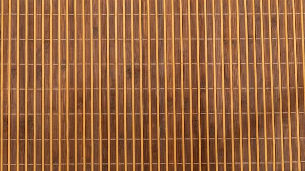 竹製のランチョンマットの質感