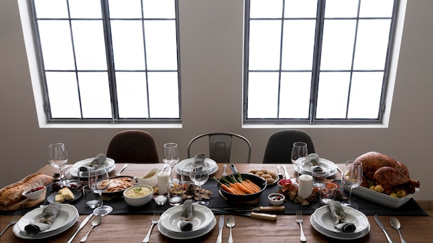 Table prepared forthanksgiving day