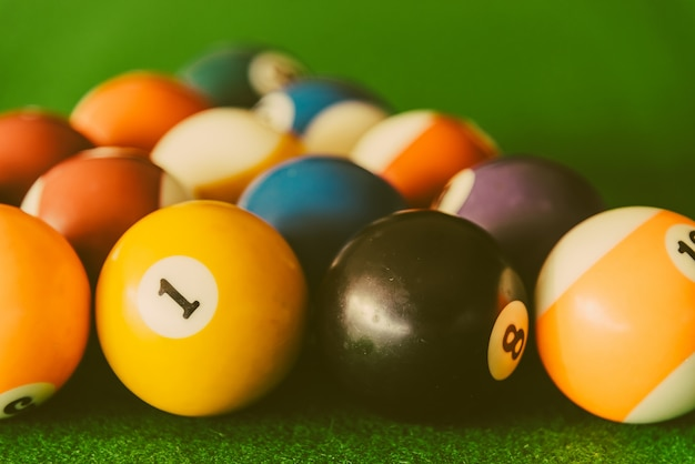 Table round pool indoors color