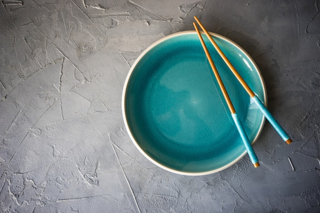 Table setting with chopsticks