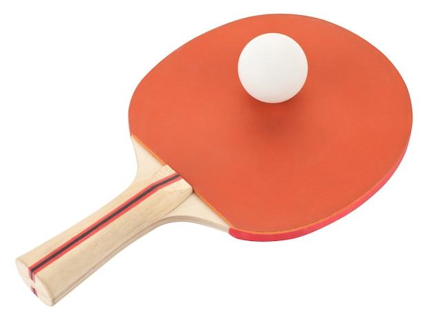 Ракетка для настольного тенниса на белом фоне