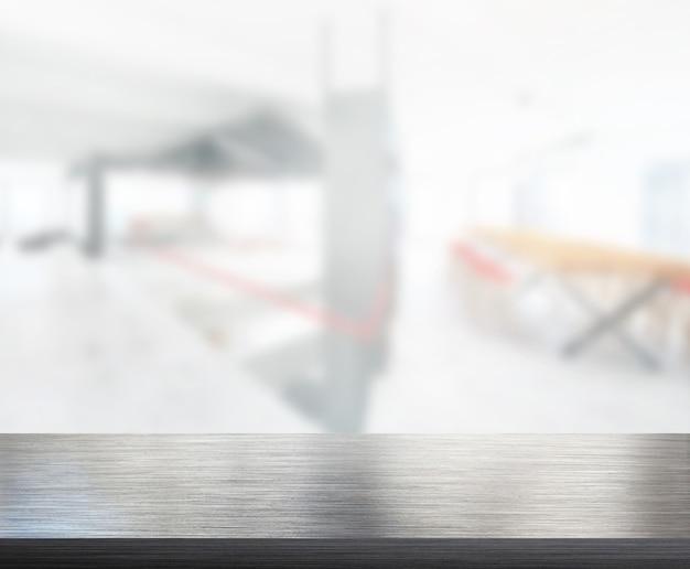 テーブルトップと背景のぼかしオフィス