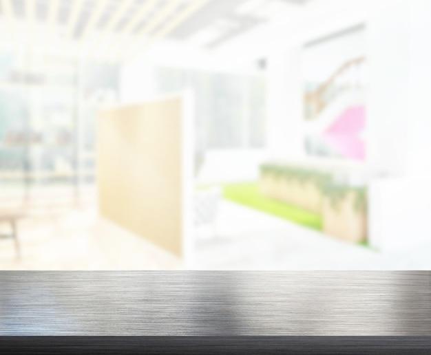 Столешница и офис размытия фона