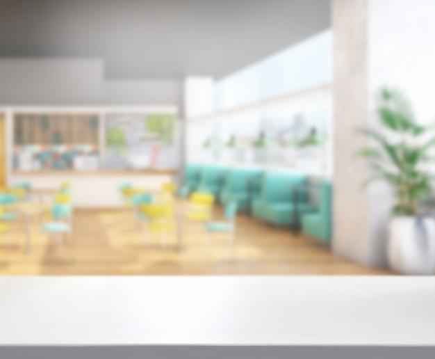 Столешница и ресторан размытия фона