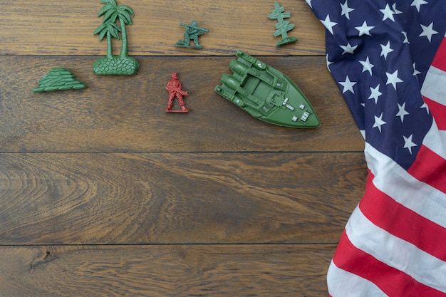 Table top view 4 th july independence day holiday background concept.