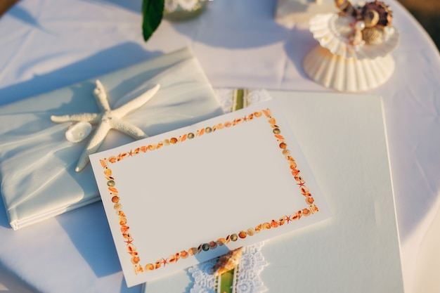 A table for a wedding ceremony in montenegro