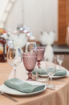 パーティー用のテーブルが設定されています