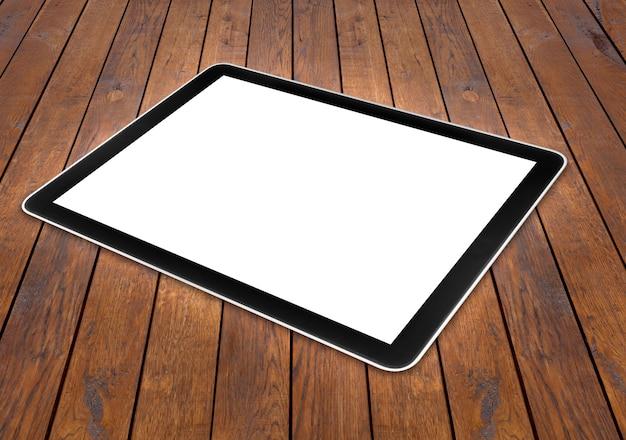 白い表面で隔離のタブレットコンピュータ