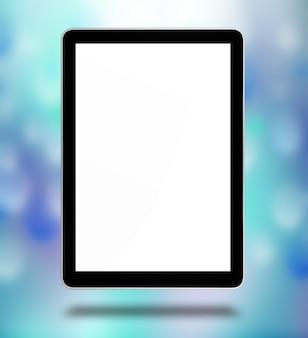 白い背景で隔離のipadepcのようなタブレットコンピューター