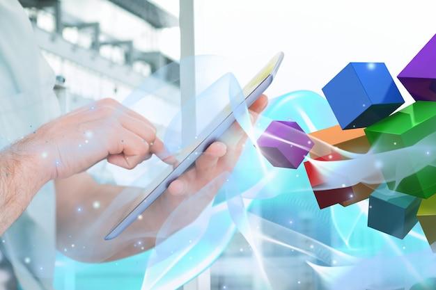 Tablet di forme emergenti e colori