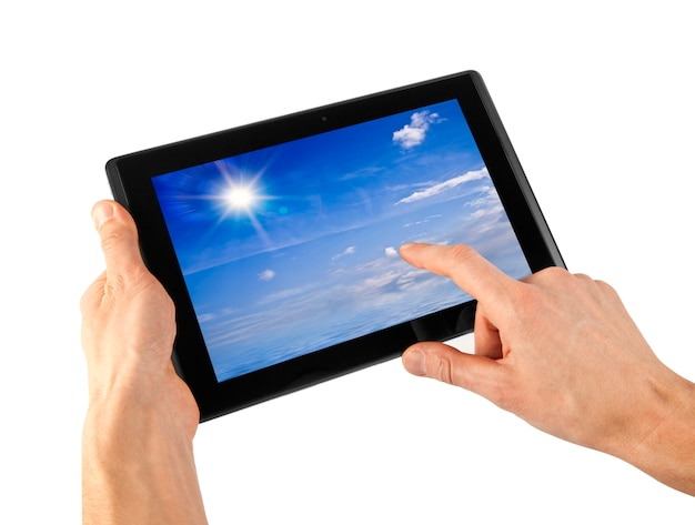 Tablet in a hand
