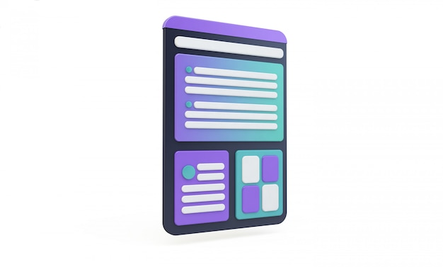 Tablet interface isolated ux design