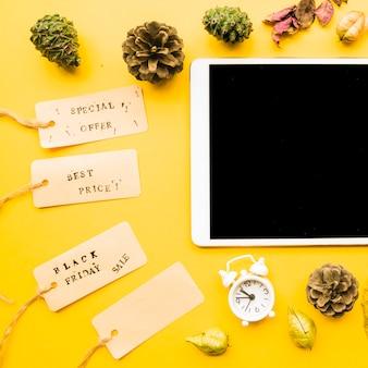 검은 금요일 판매 비문 태블릿