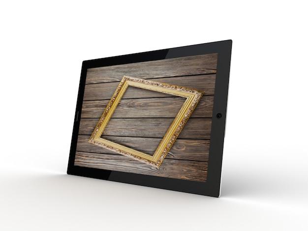 Планшет с деревянным экраном