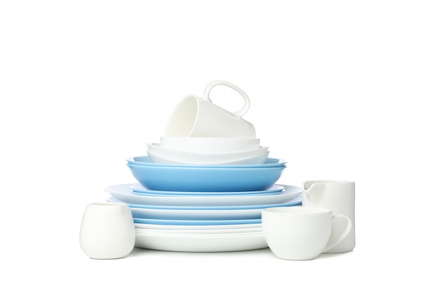 Посуда, изолированные на белом