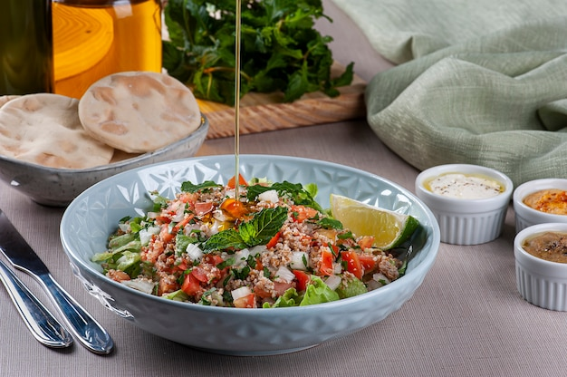 Tabule. refreshing lebanese cuisine salad