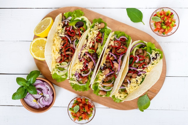 Tacos is a traditional mexican dish