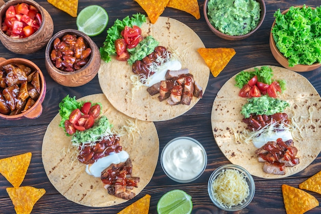Tacos with fillings