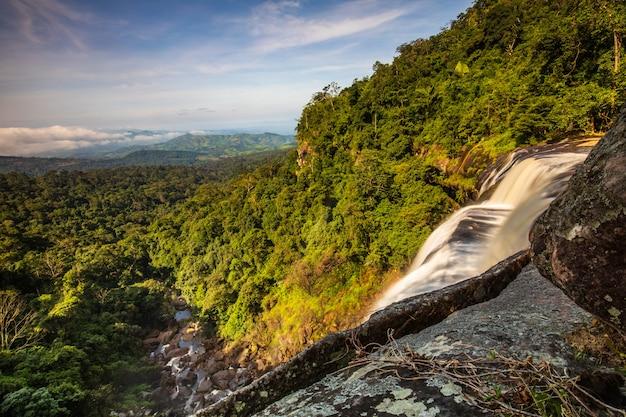 Tad-loei-nga waterfall. beautiful waterfall in loei province, thailand.
