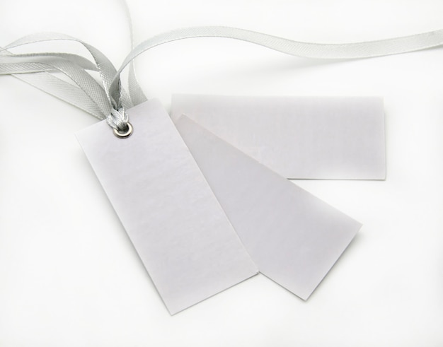Tags with ties gray