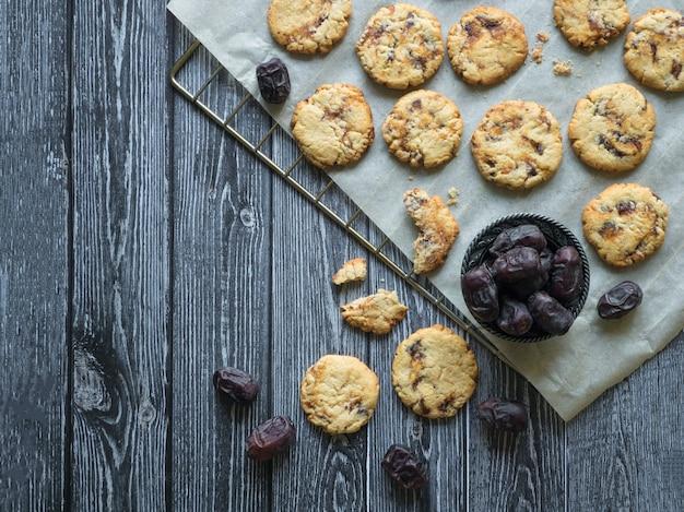 Tahini cookies on a baking sheet.