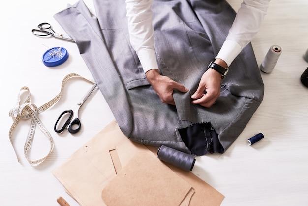 Tailor making custom jacket