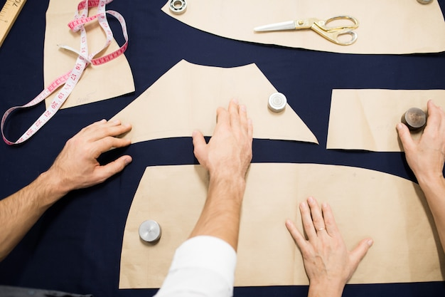 Tailor making patterns background