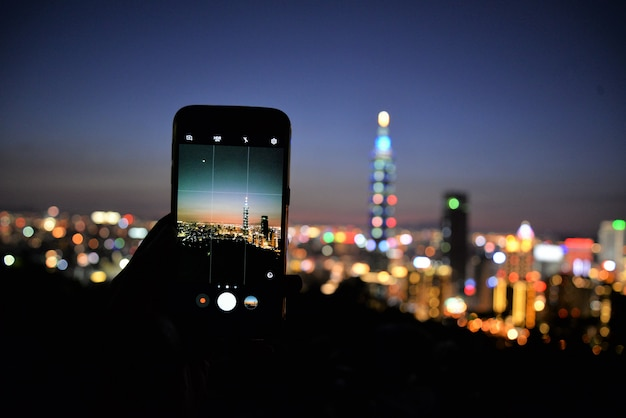 Taipei city through camera lens