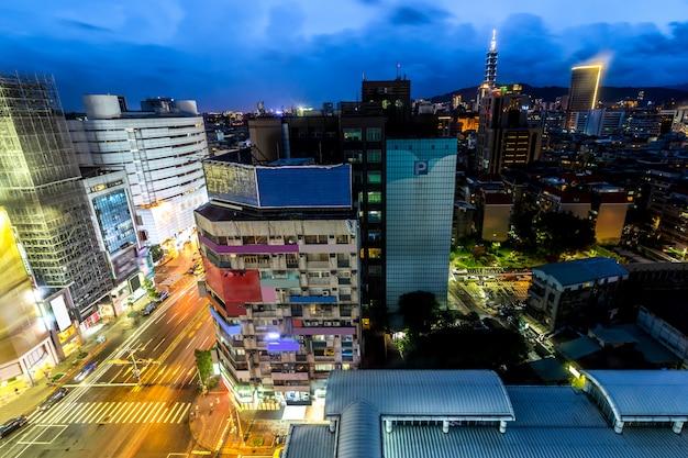 Taipei skyline taiwan