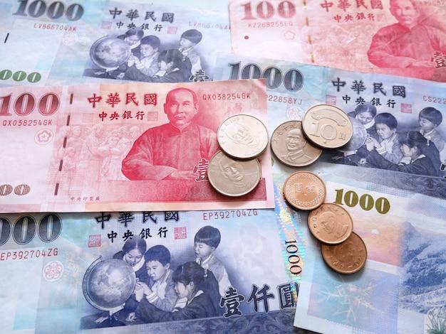 Taiwan dollar currency.