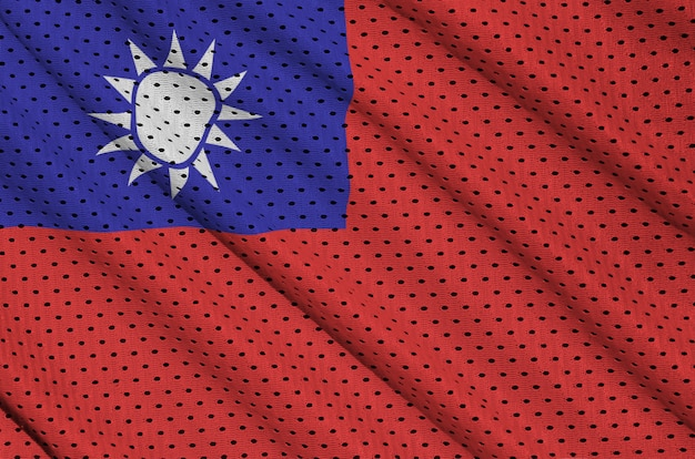 Taiwan flag printed on a polyester nylon mesh