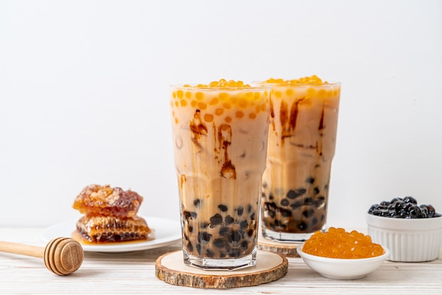 Тайваньский молочный чай с пузырьками