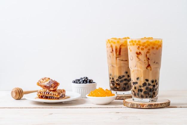 Taiwan milk tea with bubble