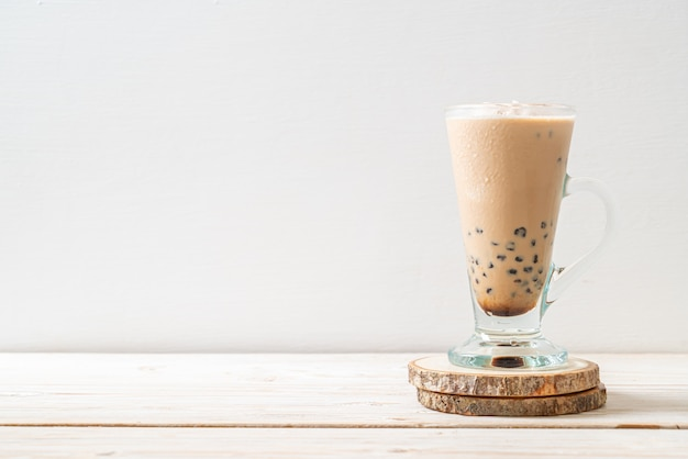 Taiwan milk tea with bubbles