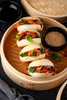 Тайваньский гамбургер гуа бао азиатский