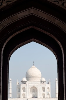 Taj mahal at entrance gate