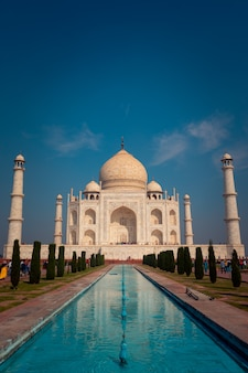 Taj mahal monument in agra, india.
