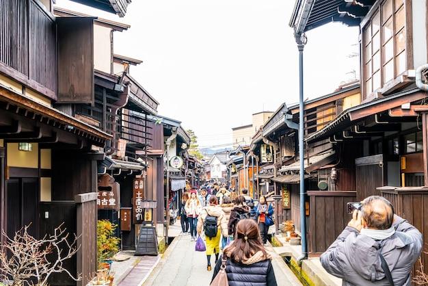 Takayama town in japan