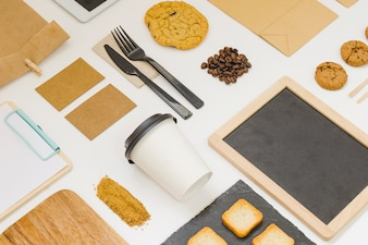 Take away food composition with slate