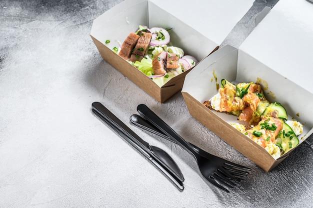 Еда на вынос бумажная коробка с бутербродом
