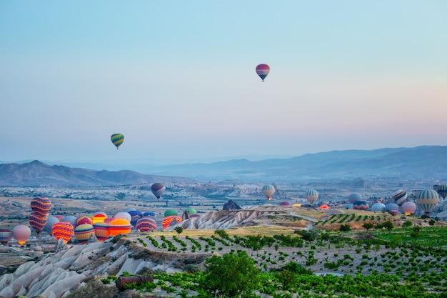 Take-off balloons in cappadocia